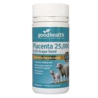 【最划算】Good Health 好健康 25000mg羊胎素+葡萄籽胶囊 60粒 保质期至19.07