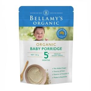 【国内现货】Bellamy's 贝拉米 有机婴幼儿麦片粥 5个月以上 125g(新包装)保质期2019.9