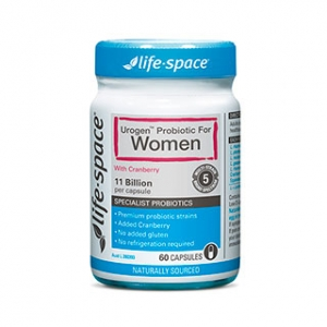 【最划算】Life Space 蔓越莓女性益生菌胶囊 60粒 保质期至20.01