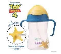 B.box 儿童/宝宝重力防漏学饮杯 240ml 迪士尼-玩具总动员 黄色盖
