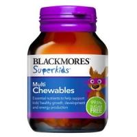 【最划算】Blackmores 百丽康 超级儿童复合维生素咀嚼片 60片(Multi)保质期至20.04