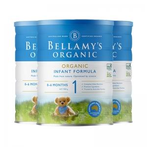 【新西兰直邮包邮】Bellamy's 贝拉米 1段 *3罐 保质期至2022年1月